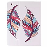 Colorful Feather Picture PU Leather Full Body TPU Case with Card Holder for Ipad 2 Ipad 3 Ipad 4