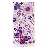 Butterfly Pattern Material TPU Soft Phone Case for Sony Xperia M2