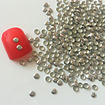 200PCS 3mm Silver Roundness Alloy Nail Art Golden&Silver Decorations