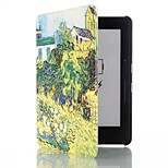 6 Inch Garden Pattern PU Leather Case with Magnetic Buckle for Amazon Kindle Voyage