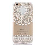 Semicircle Printing Pattern Thin Transparent Hollow PC Phone Case for iPhone 6 Plus