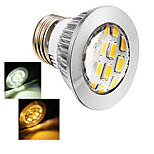 1 pcs Ding Yao E27 5W 12X SMD 5730 400-500LM 2800-3500/6000-6500K Warm White/Cool White Spot Lights AC 220-240V