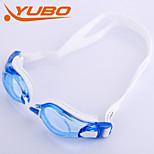 Yobo óculos de natação unisex azul claro anti-fog / tamanho ajustável / anti-uv / anti-derrapante alça de gel de sílica pc