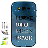 I Love You Pattern Combo Material Phone Case And Support Dust Plug Stylus Pen  for Samsung Galaxy Grand Neo I9060