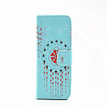 Campanula  Pattern PU Leather Phone Case For iPhone 5/5S