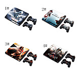 Skin Sticker Cover Decal For PS3 Play Station 3 Slim + 2 Controllers Skins