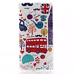 Red Car Pattern Material TPU Soft Phone Case for Sony Xperia M2