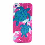 Tortoise  Pattern Transparent Frosted PC Back Cover For  iPhone 5/5S