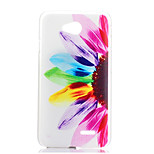 Sunflower Pattern Transparent Frosted PC Material Phone Case for LG L70