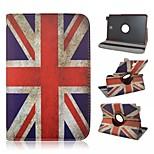 bandera nacional uk rotación de 360 flip magnética Caso del soporte universal de cuero de la PU para Samsung Galaxy Tab 8,0