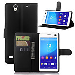 Litchi Around Open Bracket Leather Phone Wallet Card Suitable for Sony Xperia C4(Assorted Color)