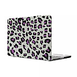 Top Quality Leopard Print Flip PVC Full Body Hard Case Cover for Macbook Air 13.3 inch