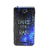 Dance in the Rain Pattern TPU Material Phone Case And Screen Protector for Sony Xperia E4