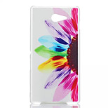 Sunflower Patterned Transparent Frosted PC Phone Case For Sony Xperia M2
