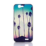 Coconut Tree Pattern Black Matte Material PC Phone Case for Huawei Ascend G7