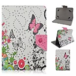 Butterfly Pattern Magnetic Flip Stand Universal PU Leather Case with Rhinestone for 7'' Tablet PC (Assorted Color)