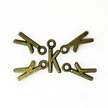 Beadia 100PCS Alphabet Letter K  7x16mm Antique Bronze Alloy Charms Pendants DIY Accessories