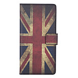 British Flag Pattern PU Leather Full Body Case with Stand and Card Slot for Sony Xperia C4