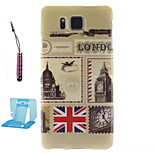 London Envelopes  Pattern TPU Phone Case  for Samsung Galaxy Alpha/G850