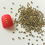 200PCS 2mm Golden Roundness Alloy Nail Art Golden&Silver Decorations