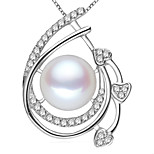 Z&X® 925 Silver Plated Fresh Water Pearl Pendants Without Chain Party/Daily