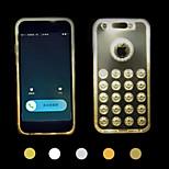 Anruf führte blinken transparenten TPU-Combo rückseitigen Abdeckung für iphone 5/5 s (verschiedene Farben)