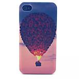 motif de ballon à air chaud pc transparent givré couverture arrière pour iPhone 4 / 4S