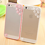 Meteor Shower Flower Pattern Metal Jewelry TPU with Screen Protector Case for iPhone 5/5S (Assorted Color)