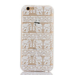 Elephant Pattern Hard Back Case for iPhone 6