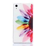 Colored Petals Pattern TPU Soft Case for Sony Xperia Z1 L39H C6903