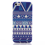 Blue and White Decorative Stripe Pattern TPU Soft Material Phone Case for iPhone 5/5S
