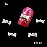 006 10pcs/lot 3D Clear Alloy Rhinestone Bow Tie Nail Slices Alloy Decoration Beautiful Nail Art Rhinestone