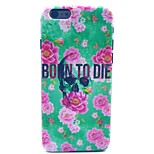 Rose Flower Born to Die Skull Pattern Hard Case Cove for iPhone 6