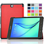 IVSO Ultra-Slim and Ultra-light High Quality PU Leather Folio Case Stand Cover for Galaxy Tab A 9.7 Tablet (Red)
