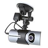 R300 Dual Lens Front Rear Car Camera Car dvrs Vehicle Dash Dashboard GPS logger Data Recorder 2.7