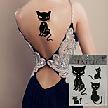 1sheet KING HORSE Temprorary Tattoo Stickers Non Toxic/Tribal/Hawaiian/Waterproof Flower Series/Totem Series