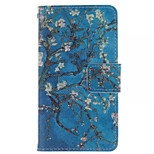 Plum Flower  Pattern PU Leather Phone Case For  Sony Xperia E1