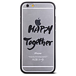 Happy Together Pattern Frame Back Cover for iPhone 6