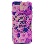 Flowers Pattern Plastic Hard Cover for iPhone 6