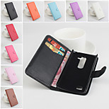 Protective PU Leather Magnetic Vertical Flip Case for LG Leon(Assorted Colors)
