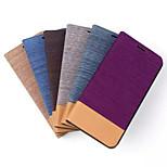 5,1 tums cowboy ådringsmönster pu plånbok läderfodral till Samsung Galaxy s6 (blandade färger)