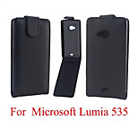 Vertical Flip Magnetic Button PU Leather Case for Microsoft Lumia 535