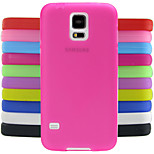 ensfarvet jelly silikone case design mønster til Samsung Galaxy s5 i9600 (assorterede farver)