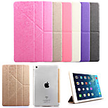 KARZEA™ Grass Pattern Removable Multi-fold PU Leather Case with Stand and Stylus for iPad Air/iPad5 (Assorted Colors)