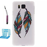 Colored Feathers  Pattern TPU Phone Case  for Samsung Galaxy Alpha/G850