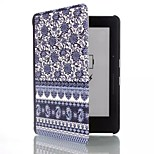 6 Inch Blue & White Porcelain Pattern PU Leather Case with Magnetic Buckle for Amazon Kindle Voyage