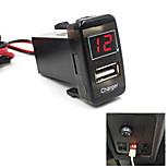 Car 5V 2.1A USB Port Dashboard Voltmeter Phone Charger For TOYOTA VIGO Special
