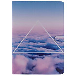 White Cloud Picture PU Leather Full Body TPU Case with Card Holder for Ipad Air Ipad 5