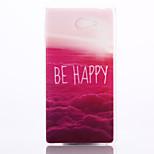 rouge motif de nuages cas matériau TPU de téléphone pour sony m2