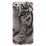 bianco modello tigre TPU custodia morbida per iPhone 5 / 5s
